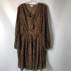 Leopard print dress extra large